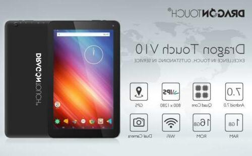V10 10 inch GPS Android Tablet Android 7.0 Nougat MTK Quad C
