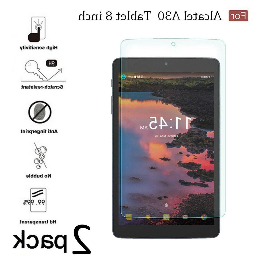 Tempered Glass Film Screen Protector For Alcatel A30 Tablet