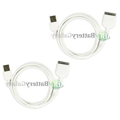 2 USB Travel Battery Charger Data Sync Cable for Apple iPad