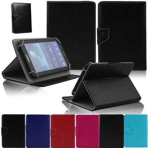 """Stand Folding Leather Case Cover For Verizon Ellipsis 7"""" 8"""""""
