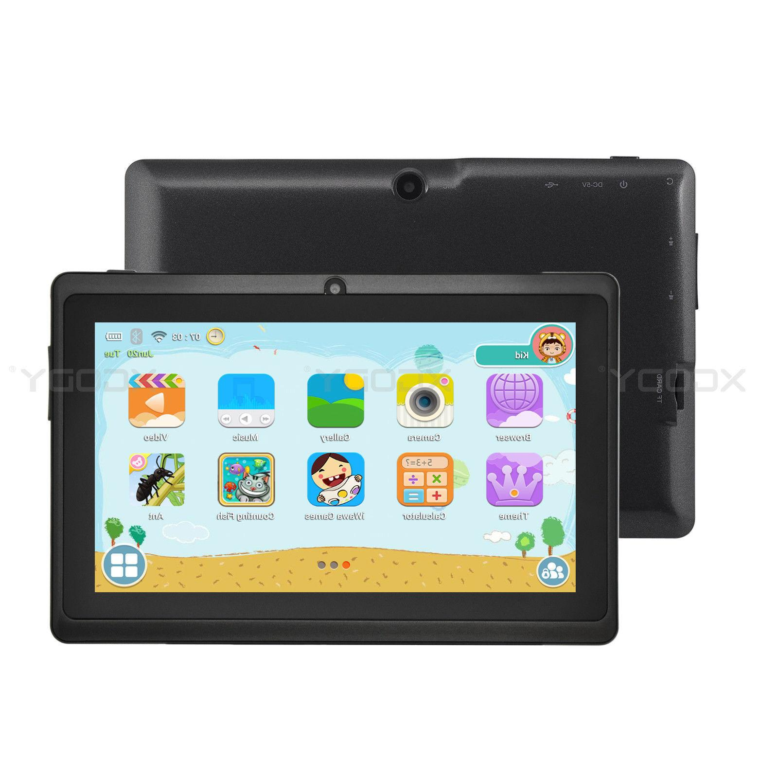 XGODY 7'' Android Tablet WiFi Webcam 16GB for Kids Children