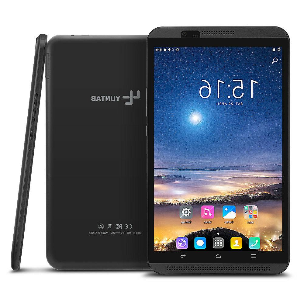 Yuntab 8 inch H8 Android 7.0 Quad-Core 4G tablet pc phablet