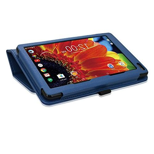 """ACdream Case, Leather Case for RCA Voyager II/RCA III RCA/RCA Voyager Pro 7"""" Tablet, Blue"""