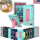 For Amazon Kindle Fire 7 HD 8 Tablet Case Armor Rugged Rubbe