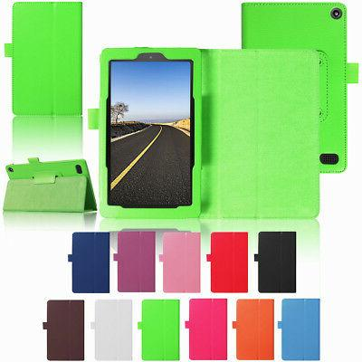 For Amazon Kindle Fire HD 8 Inch 2017 7th Tablet Case PU Lea
