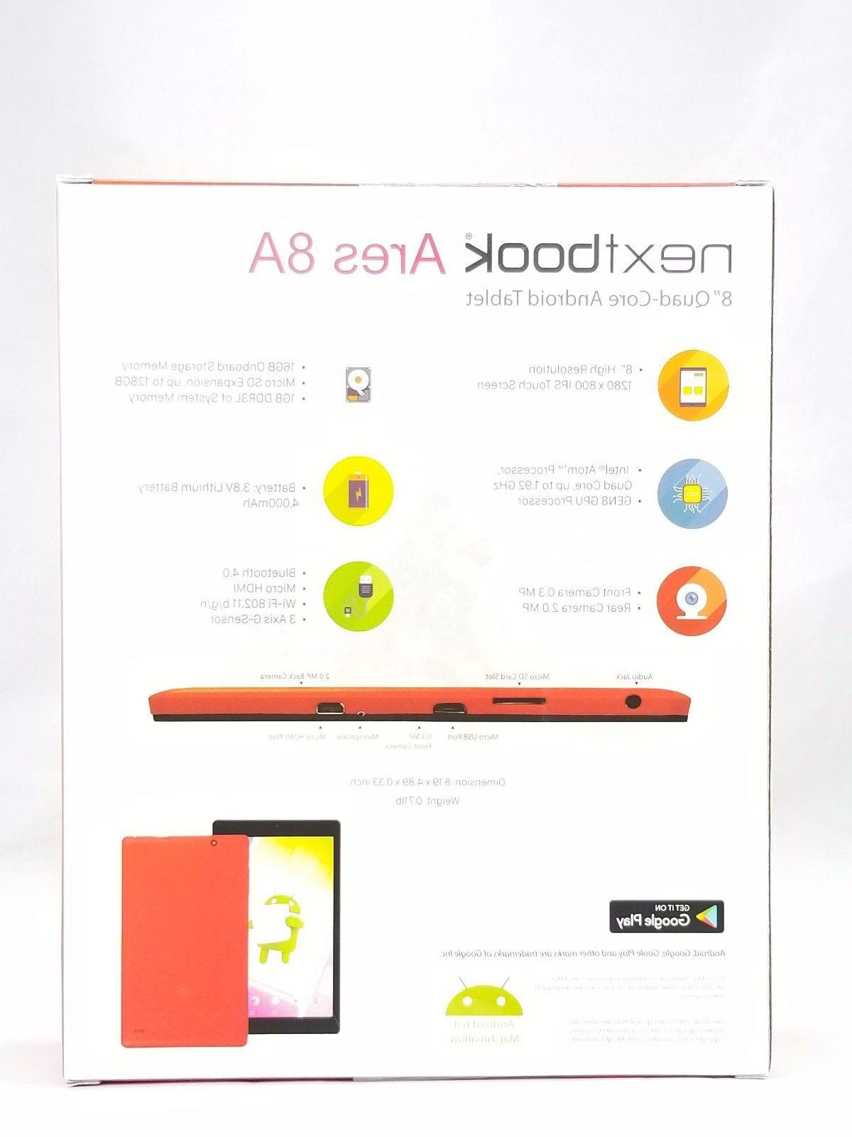 """NEW - 16GB, 8"""" Android Tablet Red 4000 MAH"""