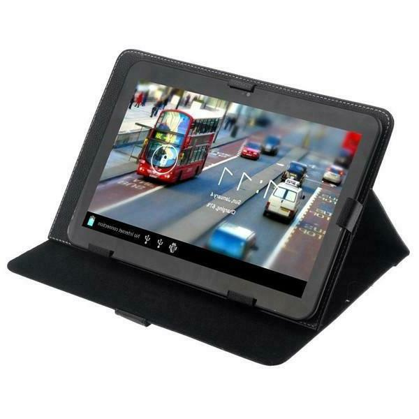"""Black 10 inch Folio Stand Case Cover for 10'' 10.1"""" Google A"""