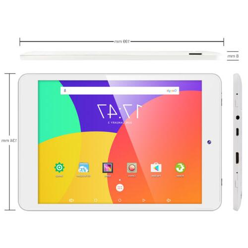 Dragon Touch 8''Inch Android6.0 16GB Quad Core Tablet PC Dua