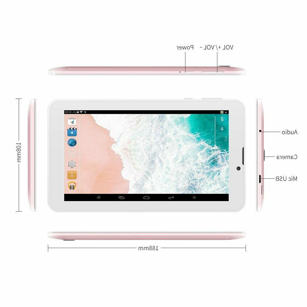 Yuntab In Quad Android 6.0,Unlocked Smartphone,Alloy Rosegold