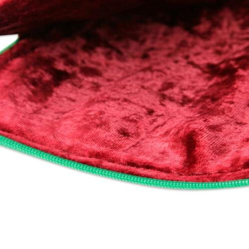 """Embroidered 10"""" Padded Case 'Blossoming Red' India"""