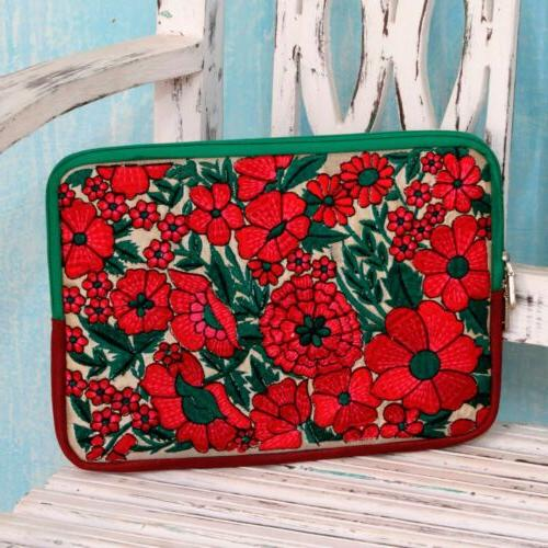 """Embroidered 10"""" Padded Red' NOVICA"""