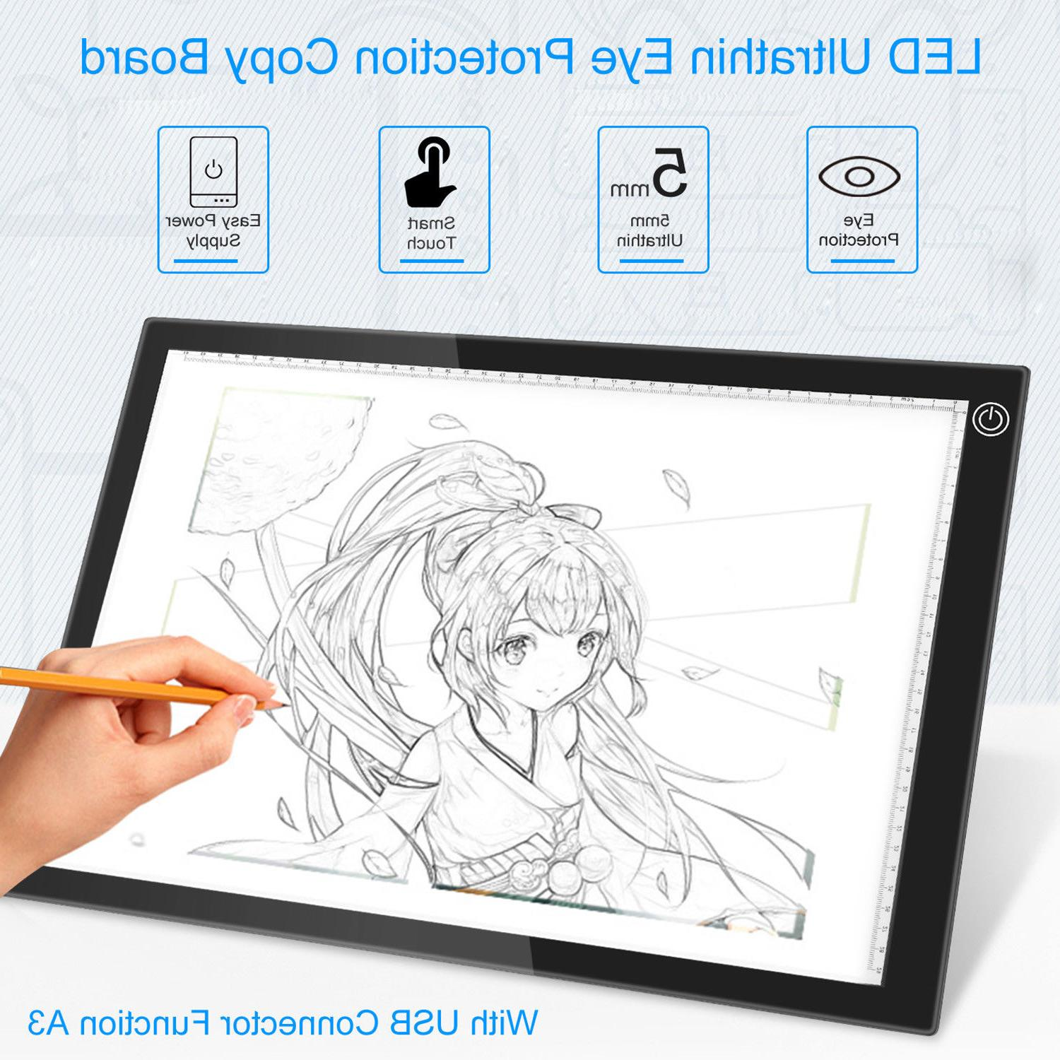 Eye-Protection A3 LED Light Pad Box Drawing Tablet Tracing T