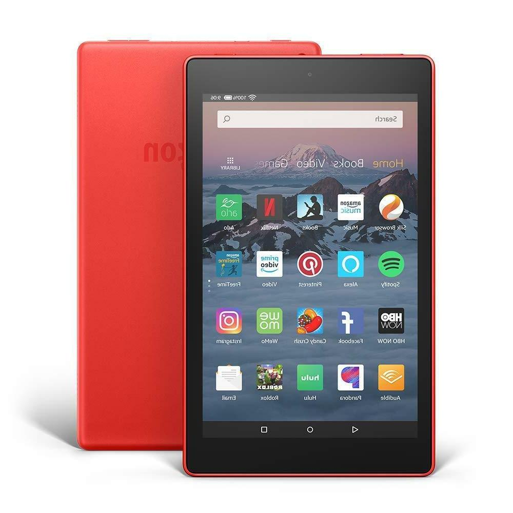 Amazon Fire HD 8 8th Vibrant HD GB, - Punch Red 2018