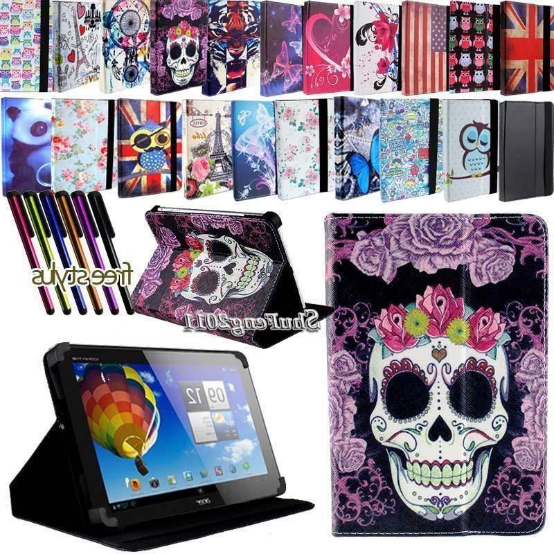 Folio Stand Leather Cover Case For Various Acer Iconia Tab M