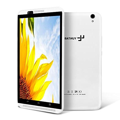 YUNTAB inch Phone/Tablet, Unlocked 6.0, 2GB+16GB, Quad-core Touchscreen IPS 1280, Dual with