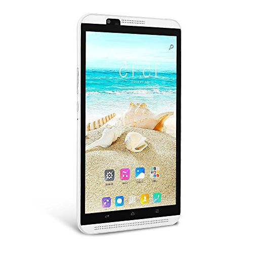 YUNTAB 8 inch Smart Phone/Tablet, Unlocked 4G Android 6.0, 2GB+16GB, Quad-core Touchscreen 1280, with Camera,WiFi