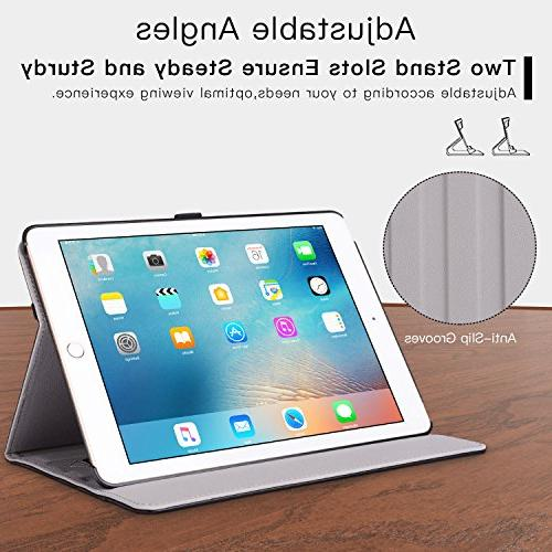 New IPad Inch 2018/2017 Leather Folding Stand Folio Cover Multiple