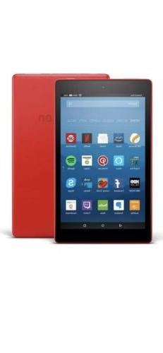 """Amazon Kindle Fire HD 8 Tablet 8"""" HD 32 GB Red 2018 Hands W"""