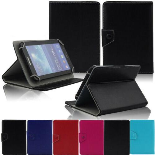 US Universal PU Leather Folding Folio Case Cover for Android