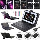 """New For 10"""" 10.1"""" Tablet Micro USB Wired Keyboard Folding PU"""