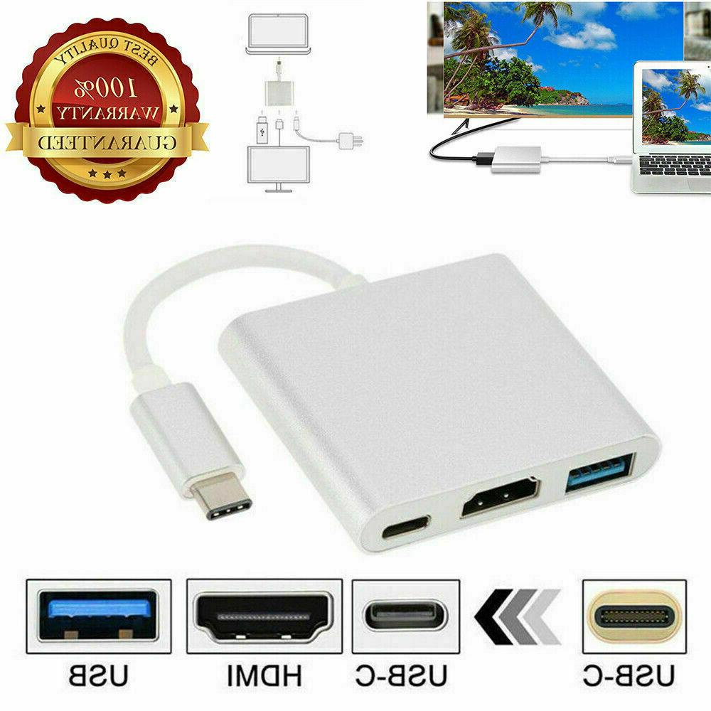 NEW C to HDMI TV Cable Converter USB-C Phone Tablet