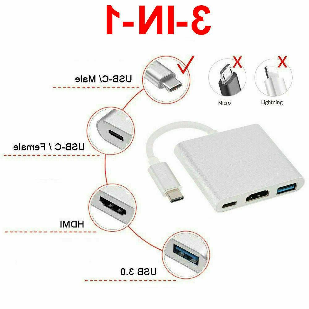 NEW USB Type C to HDMI HDTV Cable USB-C