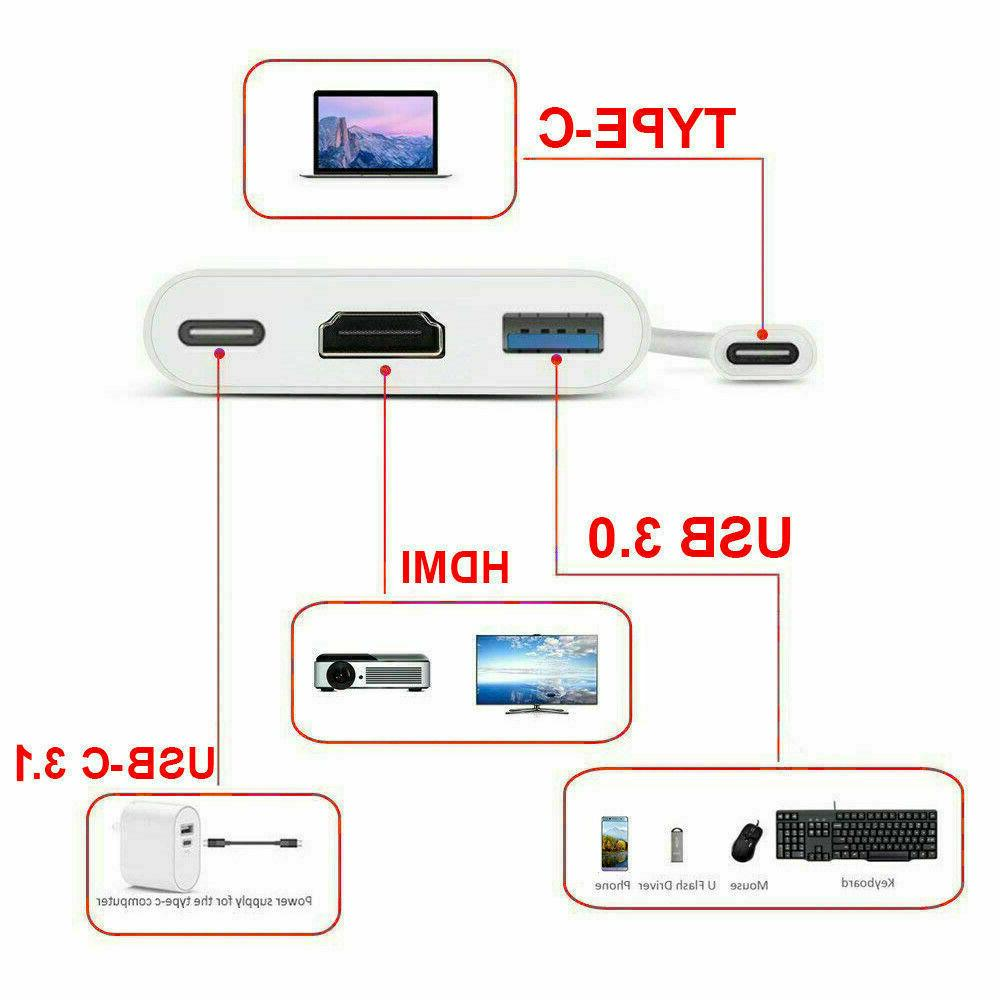 NEW USB Type C to HDTV Cable Adapter Converter USB-C Phone