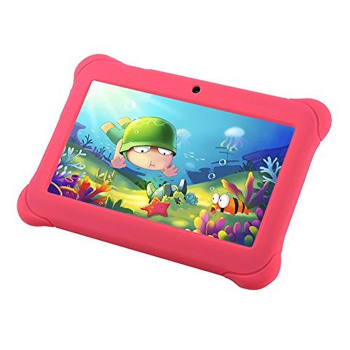 Alldaymall Android Tablets for with and Camera, Kids Edition iWawa Pre-Installed Bundle Silicone