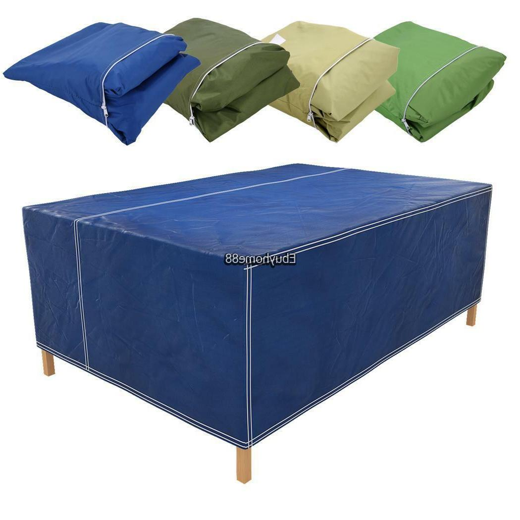 Rectangular Outdoor Patio Table Chair Cover Furniture Storag
