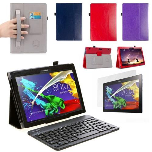 Set: Luxury Case, Screen Protector &Keyboard For Lenovo Tab