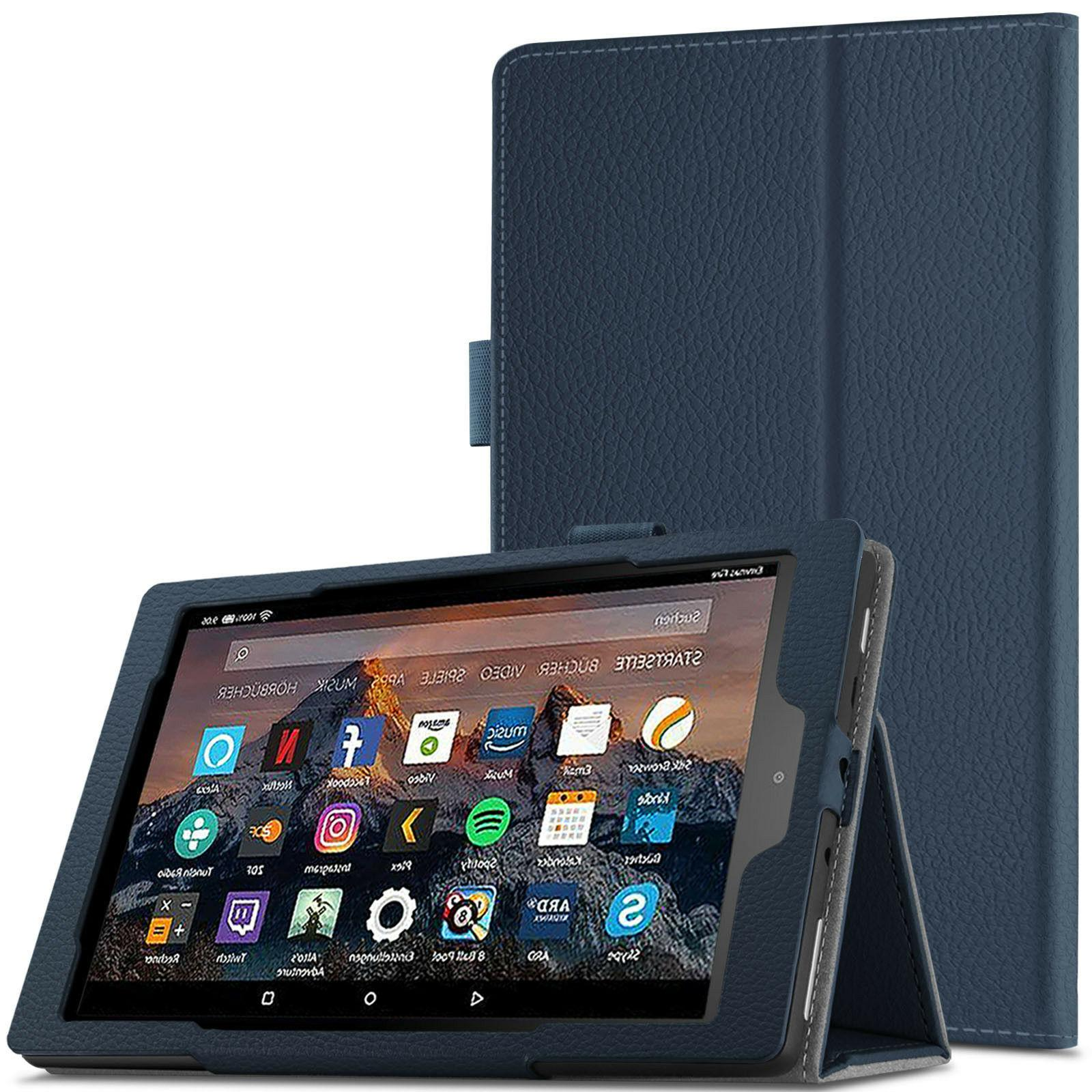 Infiland Smart Folio Tablet Case For All-New Amazon Fire HD
