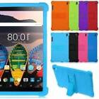 "Soft Silicone Stand Back Case Cover For 8"" Lenovo Tab3 8 Plu"