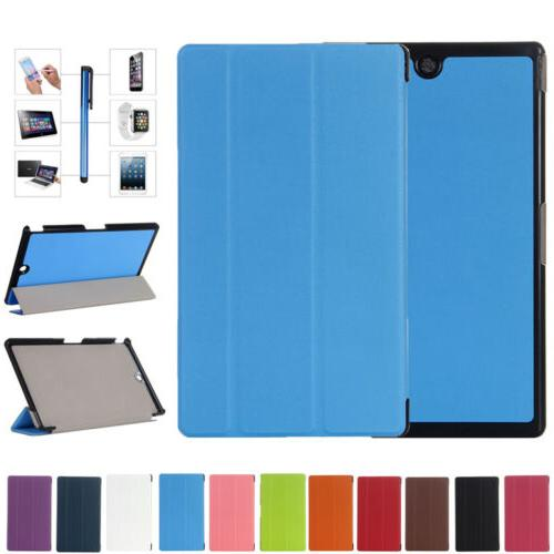 """For Sony Xperia Z3 Tablet Compact 8.1"""" Leather Slim Folio St"""