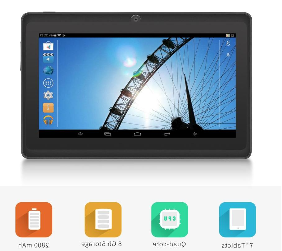 Tablet Android Unlocked Phone with Micro SD Card slot 7-Inch Tablet PC Quad