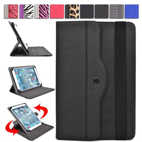 Universal 9-10 inch Tablet Slim Sleeve Folio Case Cover & Ro