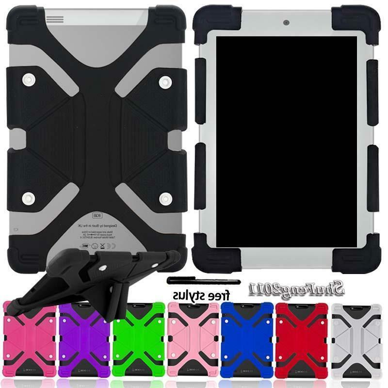 Universal Shockproof Silicone Stand Cover Case For Various 7
