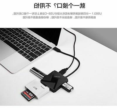 USB to 3.0 Port Hub for Macbook PC Tablet