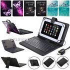"US For 10"" 10.1"" inch Tablet Pattern PU Leather Cover Micro"