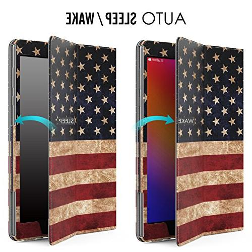 "Verizon ZenPad Z10 Case, MoKo Slim Cover Case with with Auto Wake Sleep & Built-in ASUS 9.7"" Verizon Flag"