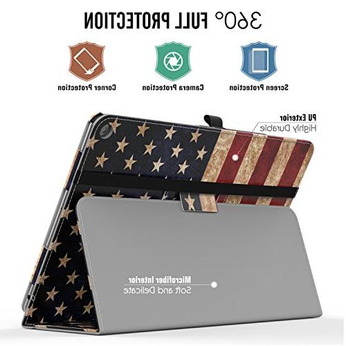 Verizon ZenPad Z10 Case, MoKo Ultra Slim Folding Case with Wake Built-in Strap for ASUS Z10 Flag