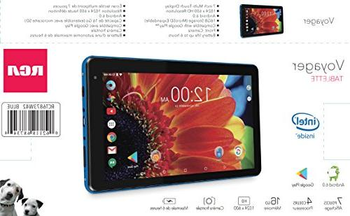 """Premium Performance Voyager 7"""" Tablet Quad-Core Processor 1G Memory Bluetooth Android"""