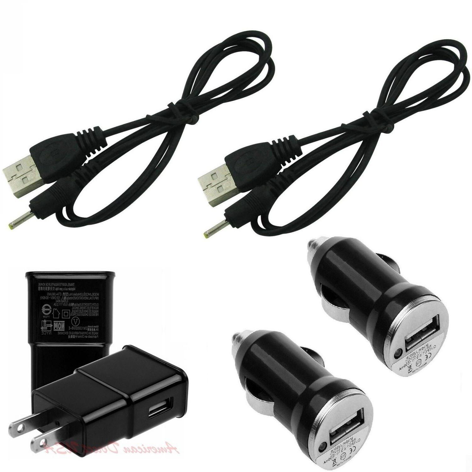 Wall Charger+2x Car+2XUSB Cable ADAPTER Cord For RCA RCT6378