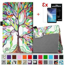 Leather Case + 3pcs Screen Protector For Samsung Galaxy Tab