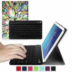 Fintie Leather Case Cover w Bluetooth keyboard for Samsung G