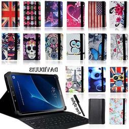 LEATHER STAND COVER CASE + Bluetooth Keyboard For Samsung Ga