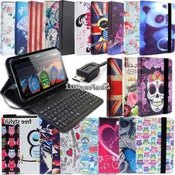 Leather Stand Cover Case With Keyboard For Various Lenovo Ta