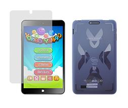 Light Blue TPU Rubber Cover Case + Clear Screen Protector fo
