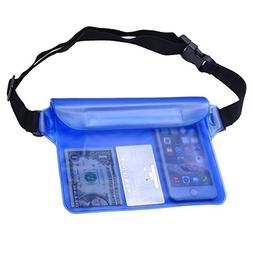 Techion Lightweight Waterproof Clear Wallet Pouch With Tripl