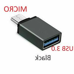 LOT Durable Micro USB OTG Host Adapter Male to 3.0 Female Fo