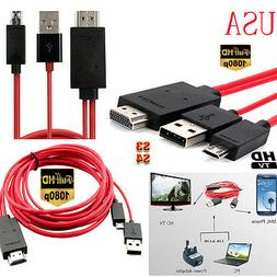 MHL USB HDMI AV Cable Adapter Lead Cord Connect Samsung Gala
